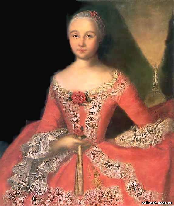 Иван вишняков портрет сарры -элеоноры фермор 1750 г, русский музей